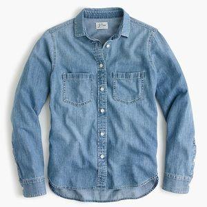 J. Crew Tops - J. CREW | chambray denim button down blouse 12 XL
